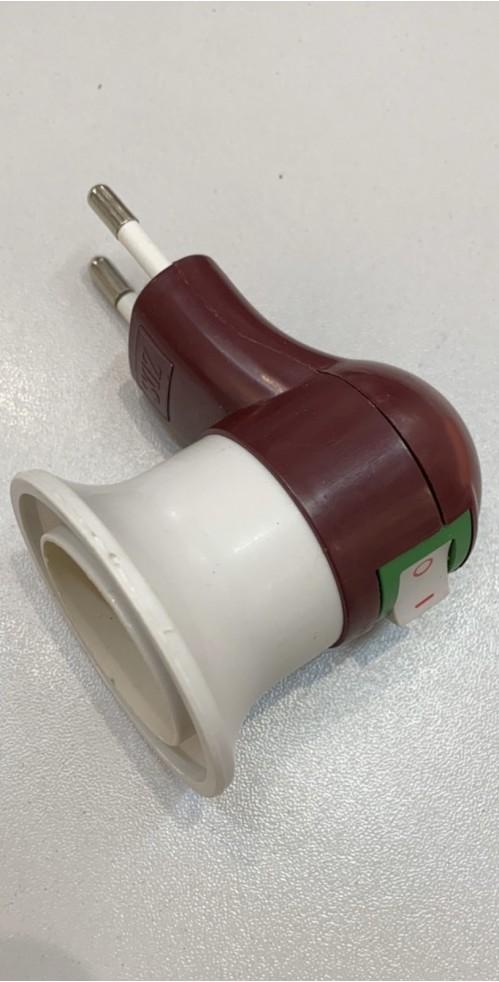 Вилка №Н3-48 электрическая кругл. для лампы (1000)