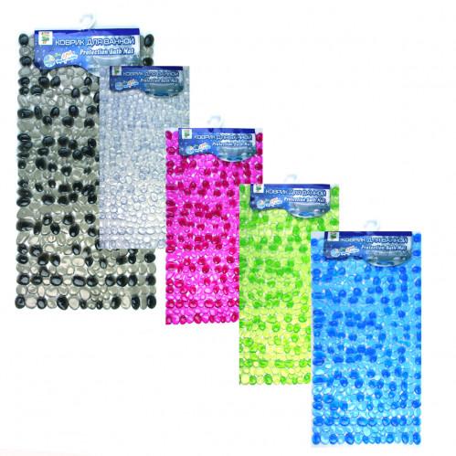Коврики №835313-2 ПВС для ванной прозр. двухцвет. 4цв (60)