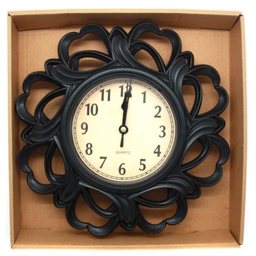 Часы №CZK-8820 настен. пл. кругл. 4цв (25*25*4)см в кор. (40)