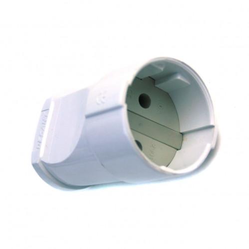 А501б штепсельное гнездо без заземл. бел. (200/20)