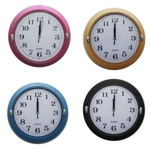 Часы №LP2229S настен. пл. круг. (23*23*4)см 4цв в кор. (40)