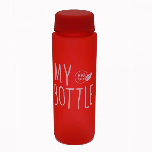 Бутылка №500-2 пл. для воды MY BOTTLE матовая цветная 4цв 500мл. (100)