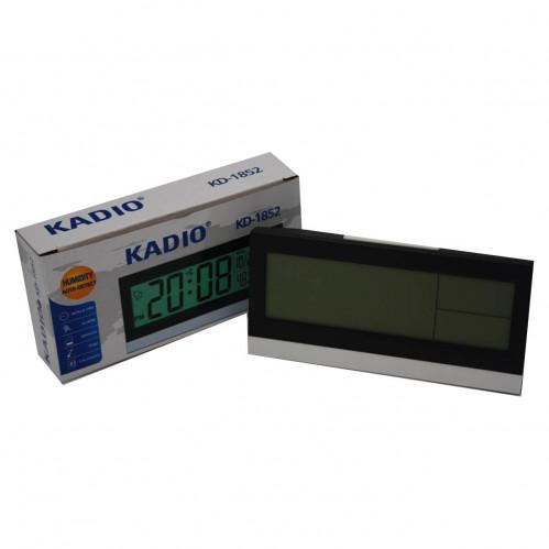 Часы №KD1852-2 цифровые пл. прямоуг. (14,4*7)см в кор. 2цв (100)