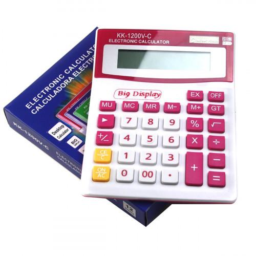 Калькулятор №KK-1200V 12цифр 4цв. 1R3 (4*15,5*20)см (90)