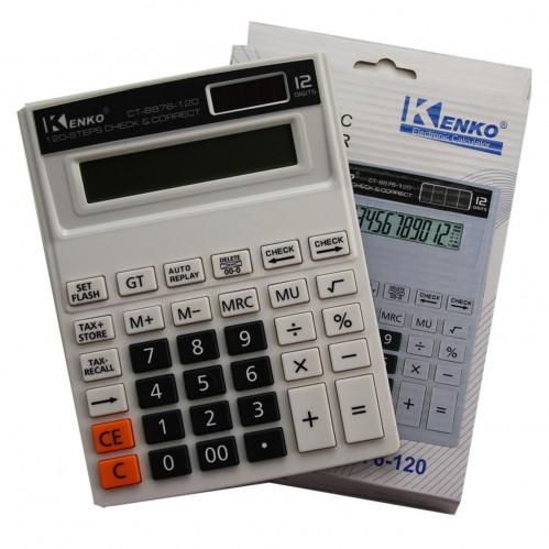 Калькулятор №CT-8876-120 12цифр 1R6 бел. цв. (18*14*2,6)см (60)