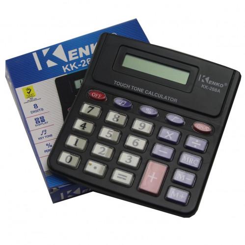 Калькулятор №PS-268A (№KK-268) 8цифр 1AG10 1цв в кор. (2,5*11,5*12,4)см KENKO (180)