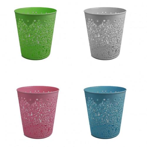 Корзина №052 для мусора или цветов пл. с круж. (27*22)см 3цв (60)