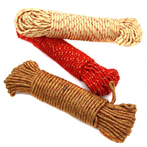 Верёвка №BX04015-15 для одежды нейл. 15м в кл. 3цв (240)