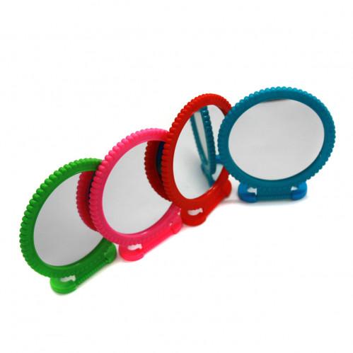 Зеркало №201-1 пл. круг. прост. с ромаш. 3цв бол. (120)