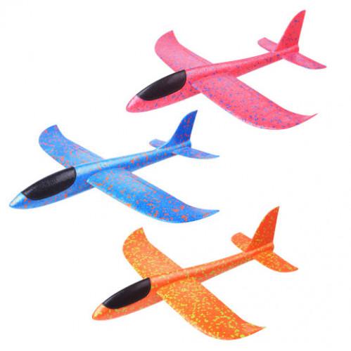 Игрушка №А-26 (№227-280) пенопластовый самолёт большой 4цв 48см (120)