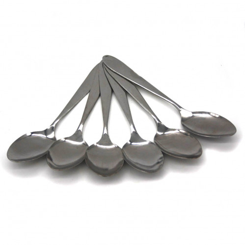 Ложка №CD357A столовая метал. чист. серебро  6шт в пач. (600)
