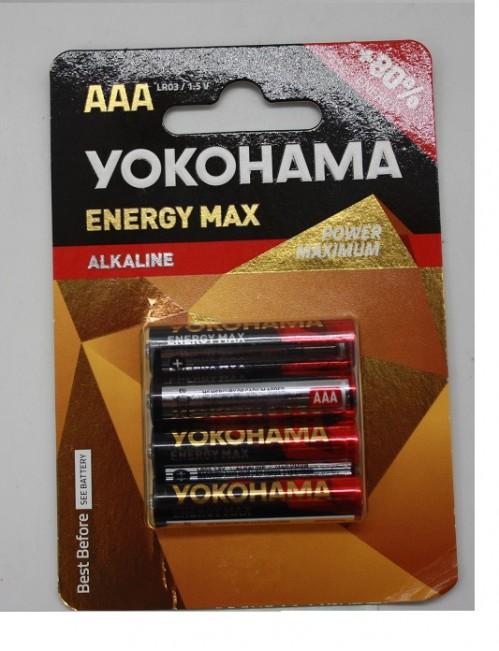 Батарейка LR6 Yokohama ENERGY MAX блистер в упак. (40)