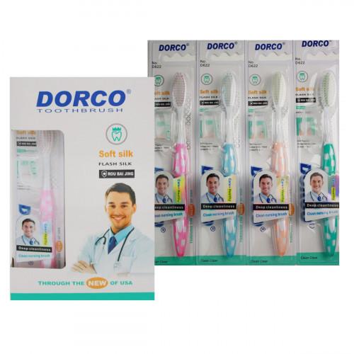 Зубная щётка №D622 взр. 1шт с чехлом на листе 12шт в кор. DORCO (576)