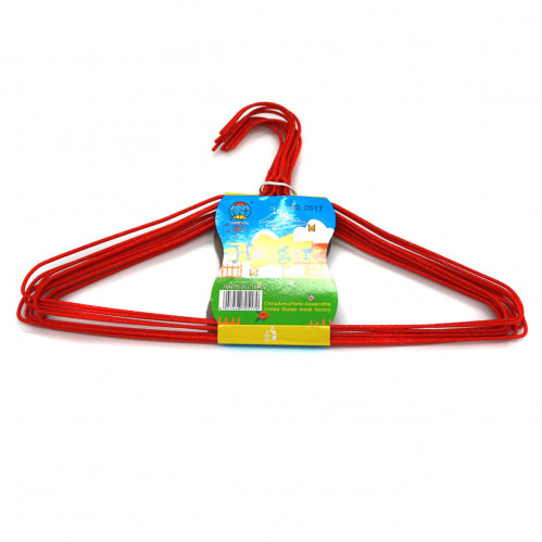 Вешалка №0517 для одежды металопл. (22*37*0,5)см в бум. пач. 10шт (800)