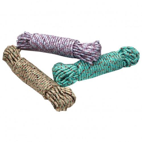 Верёвка №BX04010-10 для одежды нейл. 10м в кл. 3цв (300)