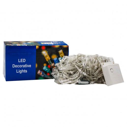 Гирлянда №NC127-500-mix прозр. 5шнур. 8функ. 400-500LED ламп разн. цв. 26м 220v в кор. (50)