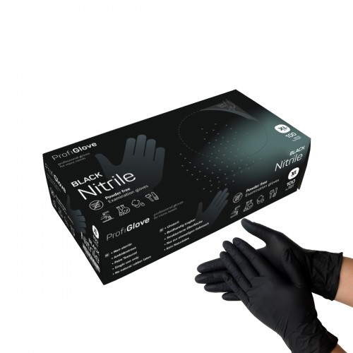 Перчатки  медицинские  Nitrile Black XL черная ProfiGlove (500)