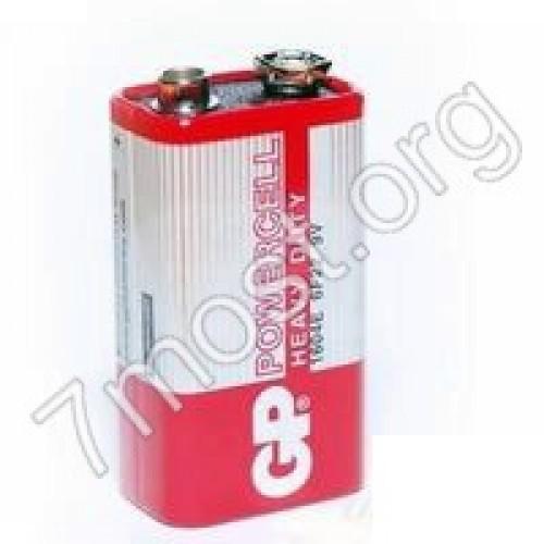 Батарейка 6F22 GP POWERCELL красная в кор. (500/10)