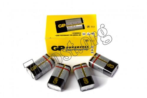 Батарейка 6F22 GP SUPERCELL серая в кор. (500)
