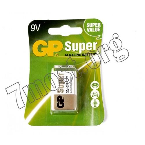 Батарейка 6F22 GP АЛКАЛАЙН на блистере SUPER (200/10)