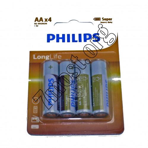 Батарейка R03 Philips бл.4 (864/144/48)