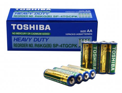 Батарейка R06 Toshiba в спайке 4шт, уп. 40шт  (1000/200/40)