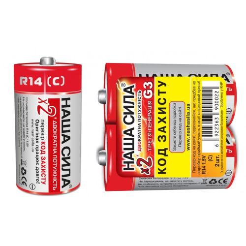 Батарейка R14 Наша Сила (480/24)