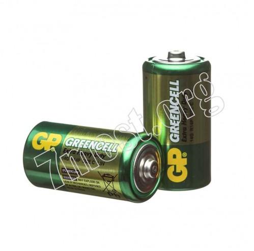 Батарейка R20 GP GREENCELL зелёная (200)