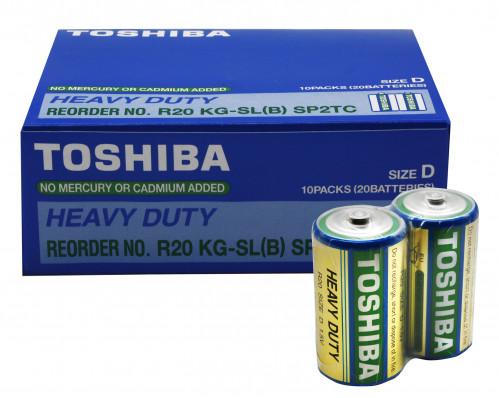Батарейка R20 Toshiba в спайке 2шт. (200/20)