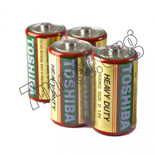 Батарейка R20 Toshiba коробка 2шт (200/20)