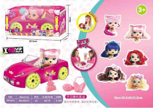 Игрушка куклы с длинными волосами в кабриолете №РР1015 (32,5*17,5*16)см  (24)