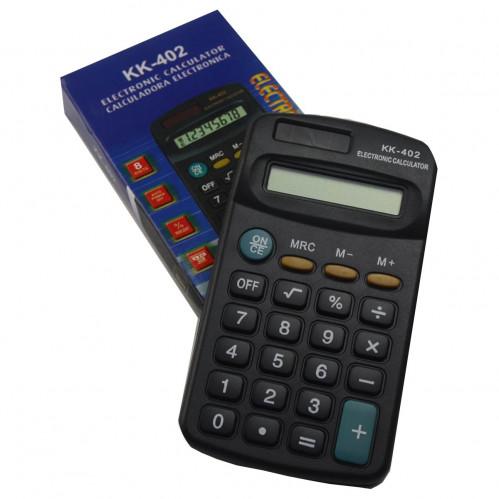Калькулятор №KK-402 TAKSON мал. чёр. с матов. кноп. 8цифр 1R6 (400)