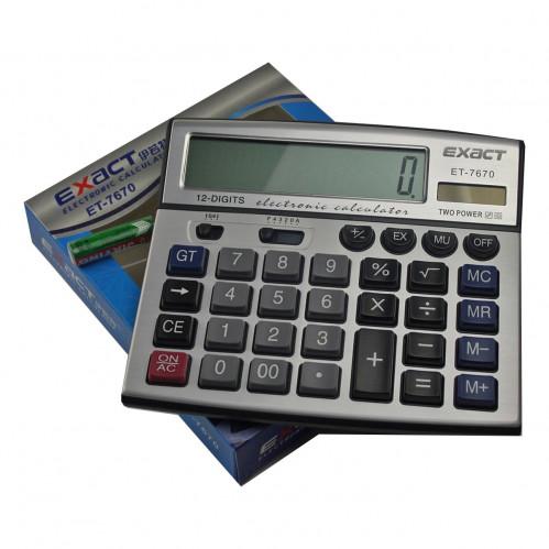 Калькулятор №ET-7670 EXACT бол. 12цифр 2R6 (60)