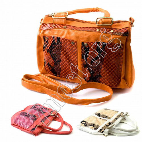 Сумка чемодан №708 жен. Pu с руч. и дл. лент (1+1)зм. 2карм внеш. (15*21*36)см (60)