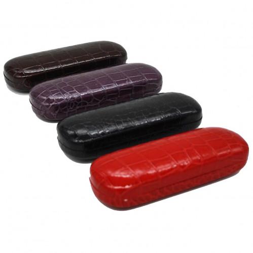 Футляр д/очков №FT-1 железо+пвс рис. камень 4цв 1шт в кл. 10шт овал. (200)