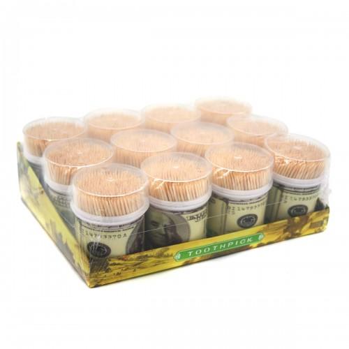 Зубочистки №2788 бамбуковая 400шт в банке 10банок в наборе (360)
