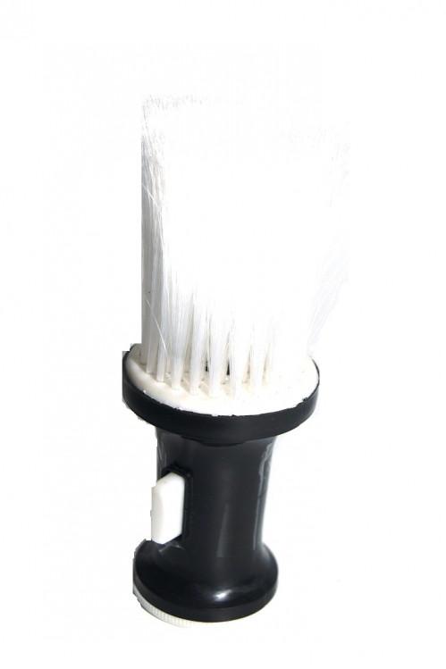 Щётка №Н19400 парикмах. пл. чёр с кноп в пач (360)