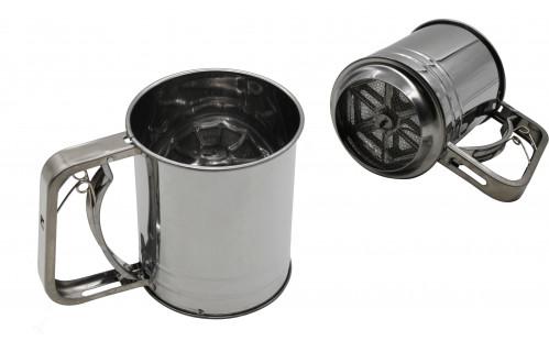 Кружка-сито №КС-770 сред. метал. в кл. (10*12)см (72)