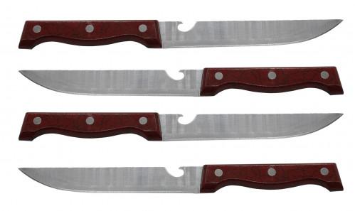Нож №6 с чёр-бел пласт руч в пач 12шт (240)