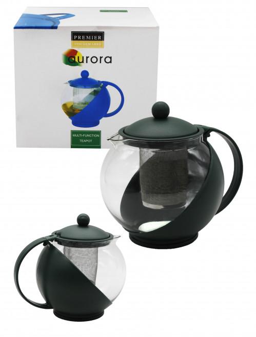 Чайник №М-450 (№127) заварник стекло 1,25л 3цв (36)
