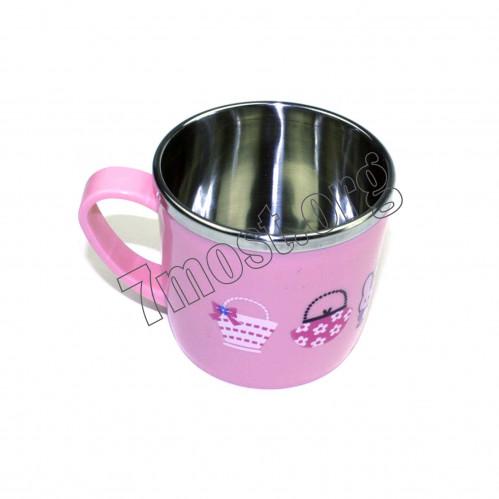 Чашка №9053 металопл. дет. с рис. с руч. (7,8*7,2)см в кл. (120)