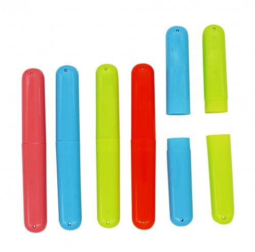 Футляр №100-042 для зубной щётки пл. 3цв (20*2,6)см 100шт в кл. (500)