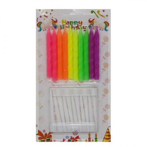 Свечи №XYR04 длин. (12+12) длина 6см на листе (600)