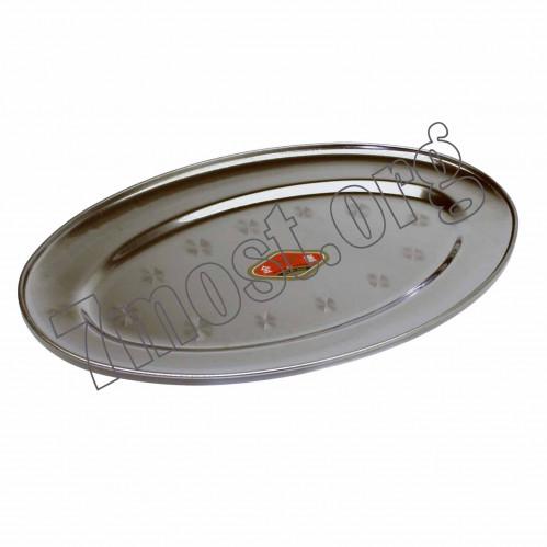Тарелка №ТМ-35 д/рыбы желез. овал. 0,4мм (2,8*27,9*29,2)см (150)