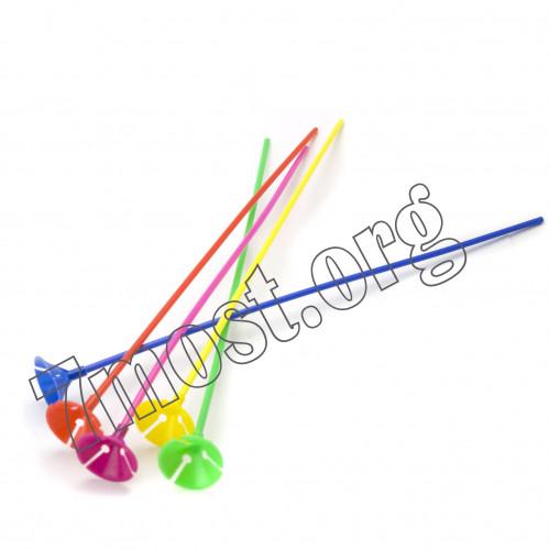 Палочки №0056 пл. д/шариков рез. (0,5*40)см с подст. в пач. (50+50)шт (5000)
