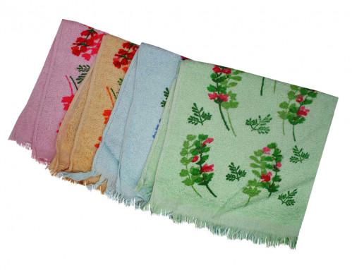 Полотенце №002-47-1400 кухонное  махровое с бахромой