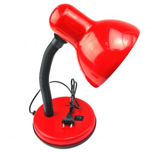 Лампа №208В настол. с кнопкой металопл. 2цв D-14см/L-35см в кл. бол. (12)