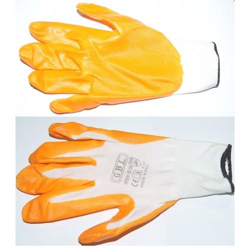 Перчатки №10 оранж. цвет. size10 (720)