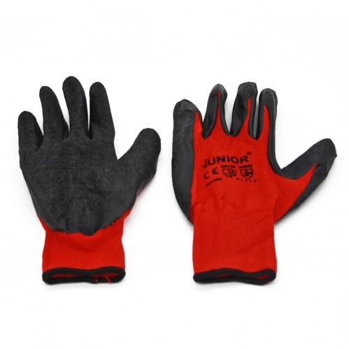 Перчатки №Х-3 нейлон. красно-чёрные (600)