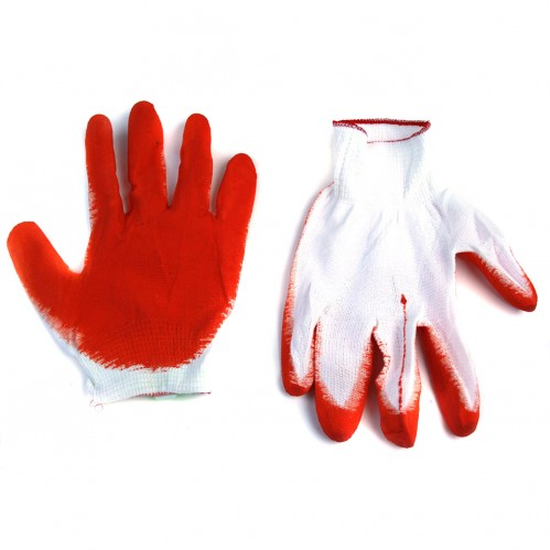 Перчатки №С-8-1 (№К9) рабочие нейлон. стрейч оранж. цвет 12пар в кл. восьмёрка разм. 20см 22гр (960)